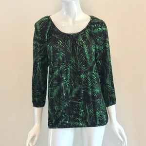 MICHAEL Michael Kors Green and Black Palm Top